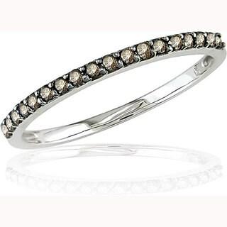 Miadora 10k Gold 1/4ct TDW Champagne Diamond Ring