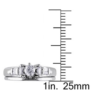 Miadora Signature Collection 14k White Gold 1/2ct TDW Diamond Bridal Set (H-I, I1)