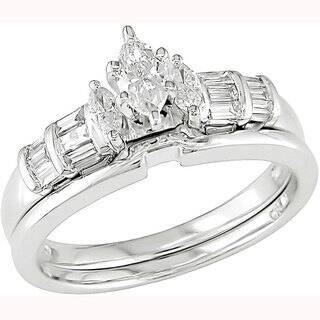 Miadora 14k White Gold 1/2ct TDW Diamond Bridal Set|https://ak1.ostkcdn.com/images/products/4084632/P12098309.jpg?impolicy=medium