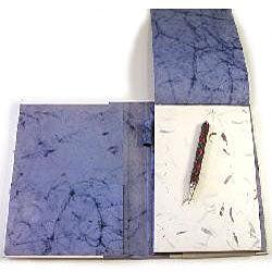 Blue Handmade Paper Notepad (India)
