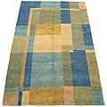 Indo Hand-knotted Multi Wool Rug (5' x 8')