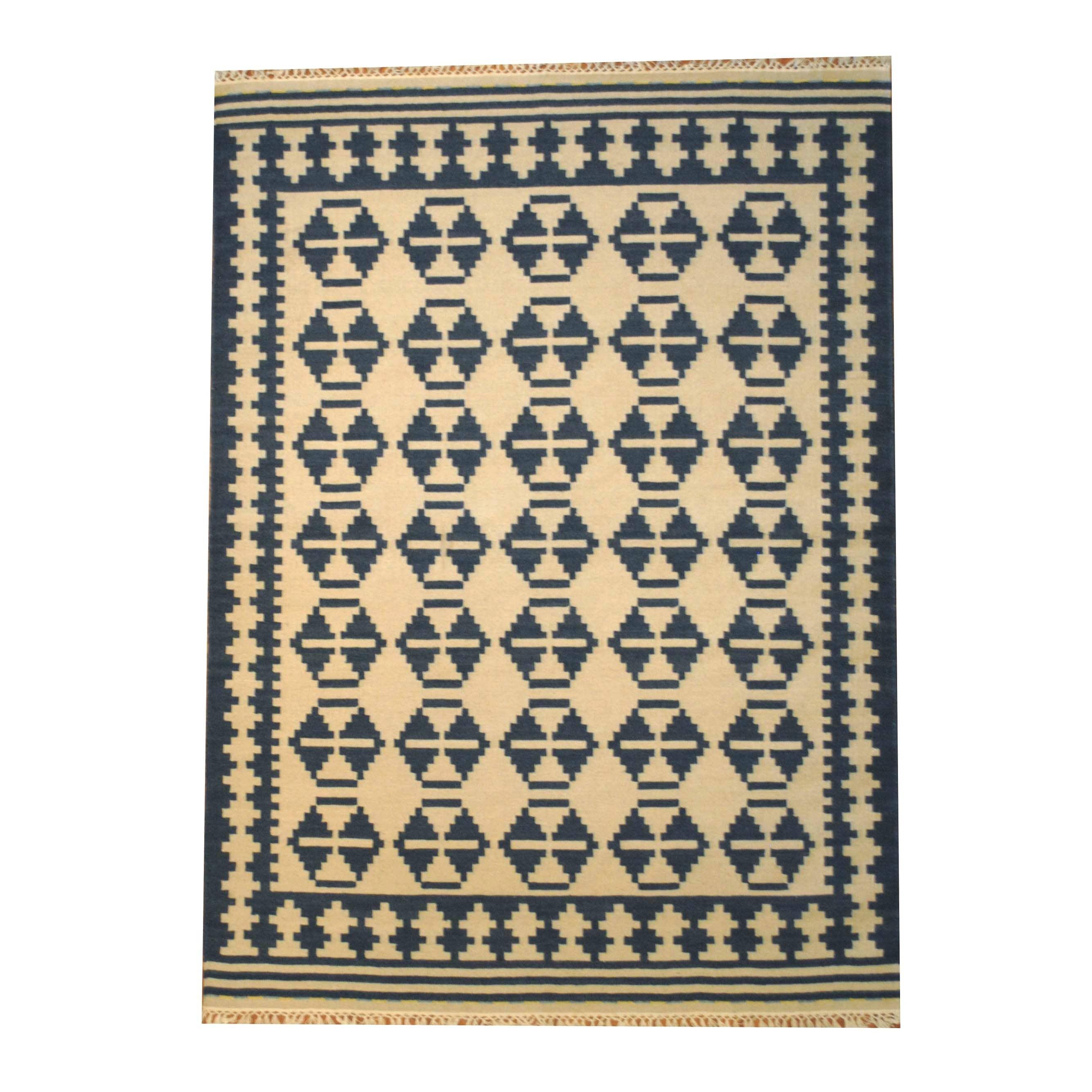 Handmade Wool Kilim Rug India 5 6 X
