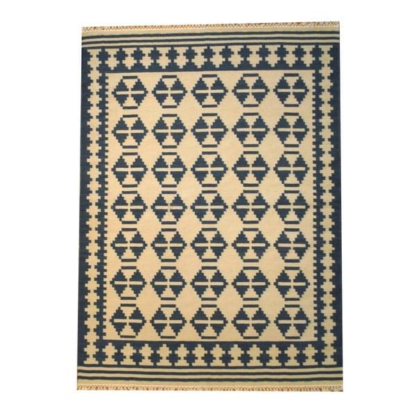 Handmade Wool Kilim Rug (India) - 5'6 x 7'11. Opens flyout.