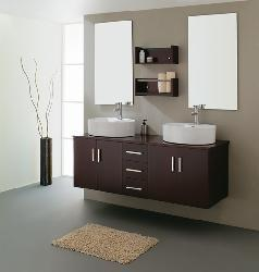 Virtu USA Enya 60-inch Double Sink Bathroom Vanity Set - Thumbnail 2