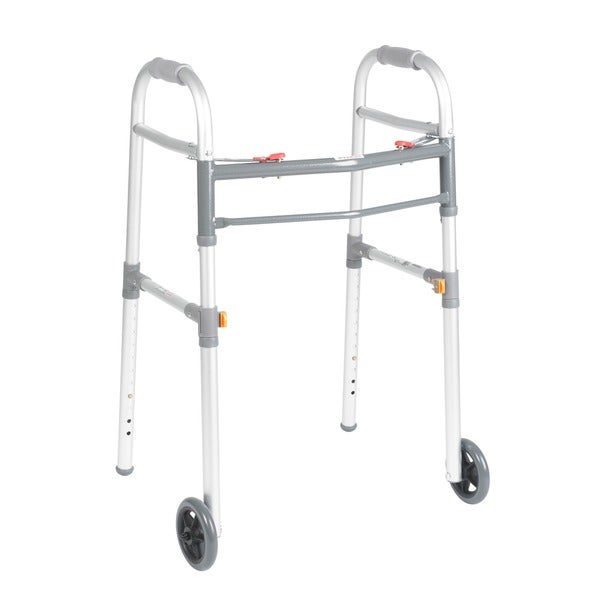 Drive Medical Folding 5-wheel Adult/ Junior Aluminum Walker