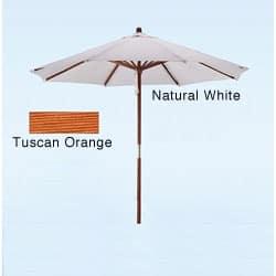 Hard Wood White Tuscan Orange Patio Umbrella Option