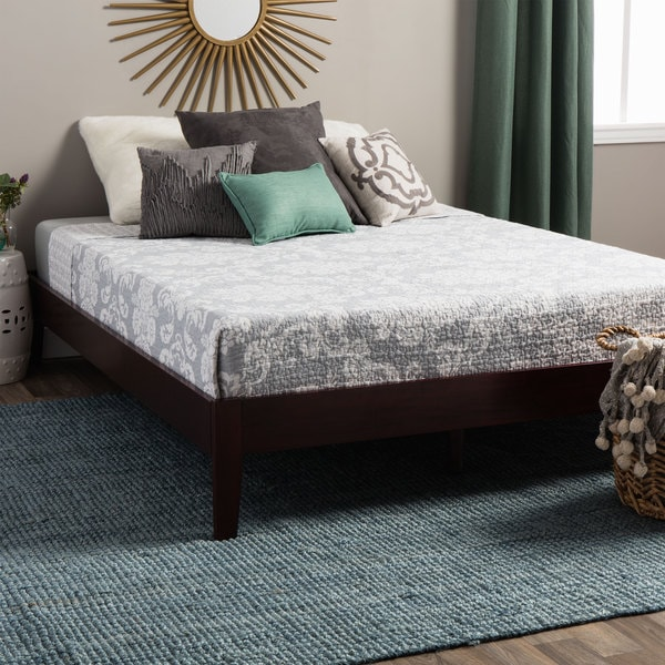 Tapered Leg Twin-size Platform Mid-century Style Bed