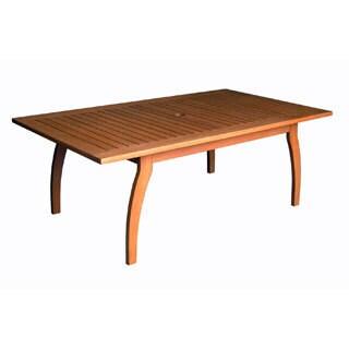 International Caravan Royal Tahiti Yellow Balau Wood Rectangular Coffee Table