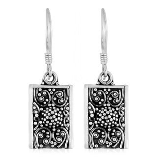 Sterling Silver Motif Handmade Earrings (Indonesia)