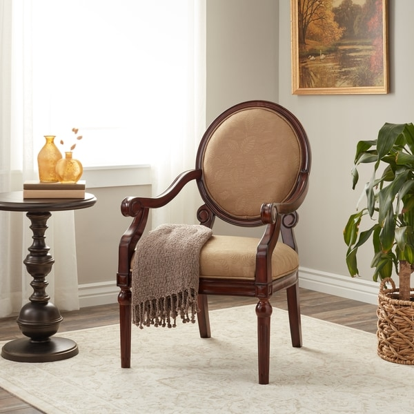 Laurel Creek Roll Arm Chair Taupe Leaf