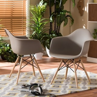 Retro Classic White Accent Chairs (Set Of 2)