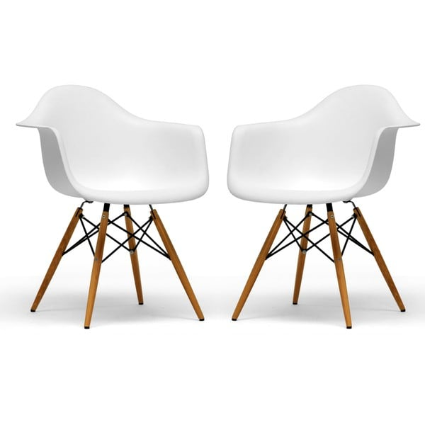Retro classic White Accent Chairs Set of 2 Free