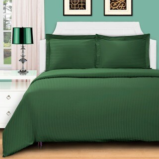 Superior 400 Thread Count Stripe Cotton Sateen Duvet Cover Set