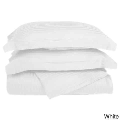Superior 400 Thread Count Stripe Cotton Sateen Duvet Cover Set