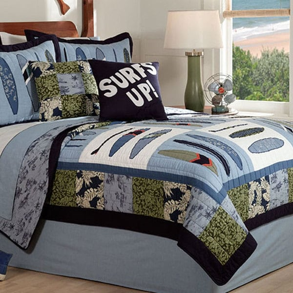 Catch A Wave\' 3-piece Quilt Set - Free Shipping Today - Overstock ...