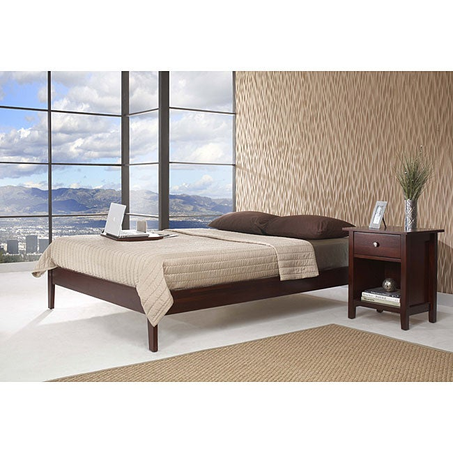 shop tapered leg california king size platform bed free shipping today overstock 4093385. Black Bedroom Furniture Sets. Home Design Ideas
