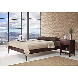 tapered leg california king size platform bed