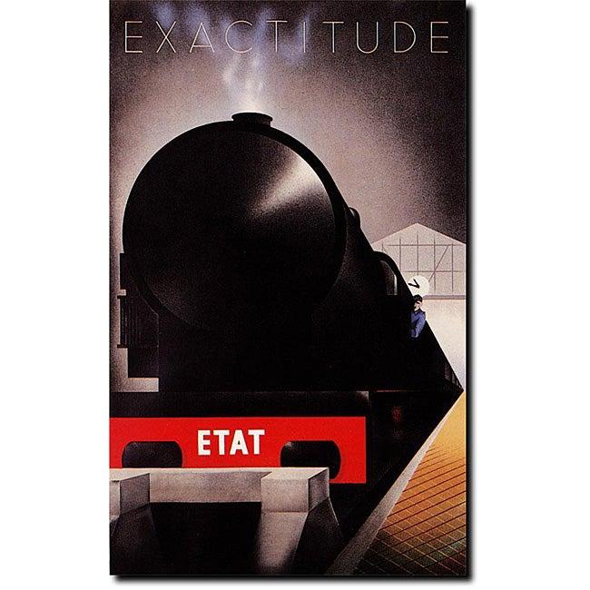 Adolphe Cassandre 'Exactitude Etat' Gallery-wrapped Canvas Art
