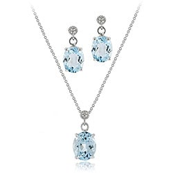 Diamond Necklace And Earring Set Thumbnail Image