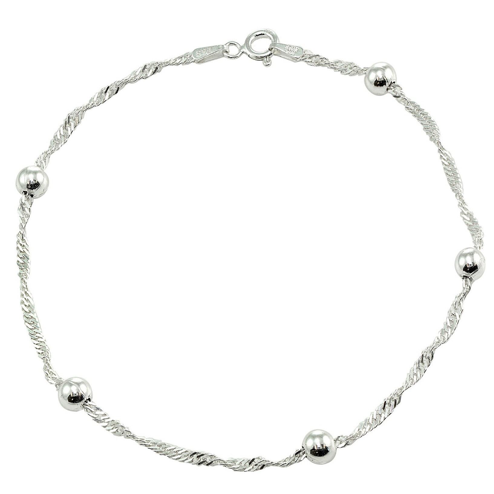 Mondevio Sterling Silver/ Gold Overlay Diamond-cut Chain ...