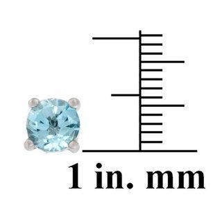 Glitzy Rocks Sterling Silver Multi-gemstone Earring Studs (Set of 5)