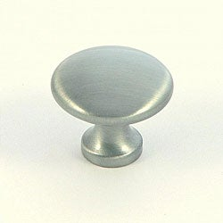 Satin Pewter Plain Round Cabinet Knobs (Pack of 5)