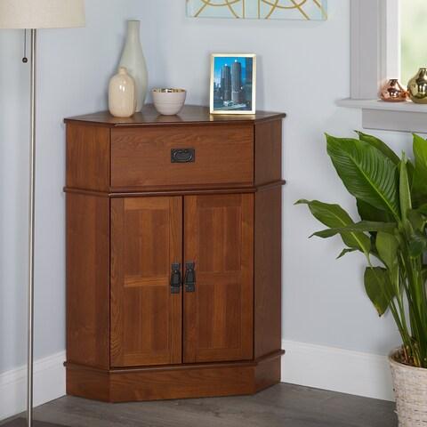 "Simple Living Mission Corner Cabinet - 34""h x 24""w x 18""l"