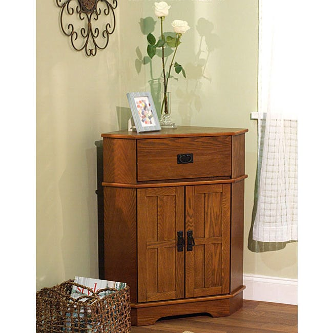 Simple living mission corner cabinet free shipping today - Corner tables for living room online ...