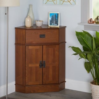 "Simple Living Mission Corner Cabinet - 34""h x 24""w x 18""l"