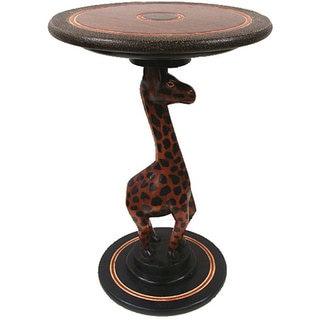 Handmade Giraffe Accent Table (Ghana)