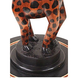 Handmade Giraffe Accent Table (Ghana) - Thumbnail 2