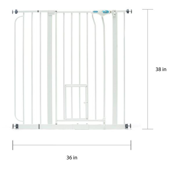Walk-thru Baby Pet Safety Gate Extra Tall Decorative 28 To 48 Inch Gap Door