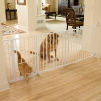 Carlson Pet Products White Metal Super Wide Maxi Pet Gate