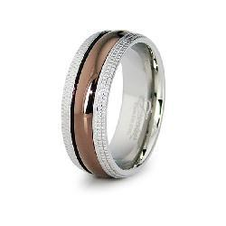 Espresso-plated Stainless Steel Ring