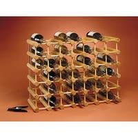 J.K. Adams Brown Wood 40-bottle Wine Collection Storage Rack