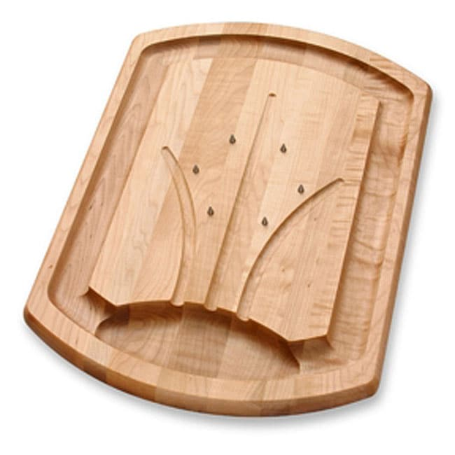 JK Adams 20-Inch by 14-Inch Carving Board with Spikes, Ma...