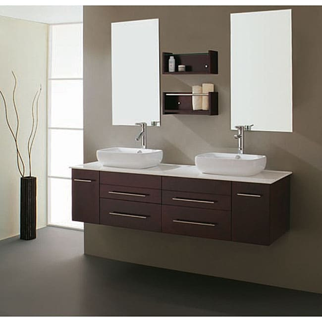 Bathroom Vanities Set virtu usa augustine 60-inch double sink bathroom vanity set - free
