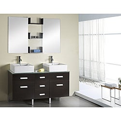 Virtu Usa Maybell 56 Inch Double Sink Bathroom Vanity Set Free Shipping Today