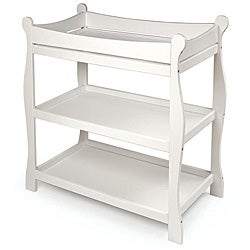 Badger Basket Sleigh-style White Changing Table