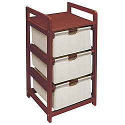 Cherry Three Drawer Hamper and Storage Unit