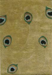 Alliyah Handmade  Sage Green New Zealand Blend Wool Rug  (6' Round) - Thumbnail 2