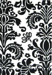 Alliyah Handmade Black New Zealand Blend Wool Rug(6' Round) - Thumbnail 1