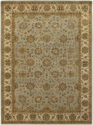 Hand-knotted Mandara Wool Rug (9' x 13') - Thumbnail 2