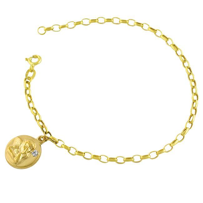 10k Yellow Gold Guardian Angel Charm Bracelet