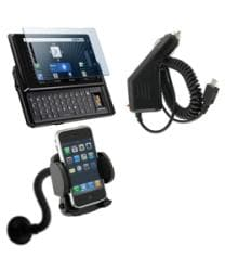 Film Protector Mount Charger for Motorola Droid