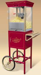 Nostalgia Electrics Old Fashioned Movie Time Popcorn Cart