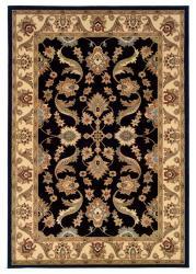 Adana Black/ Cream Rug (7'9 x 9'9) - Thumbnail 1