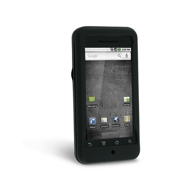 Black Silicone Skin Case for Motorola A855 Droid