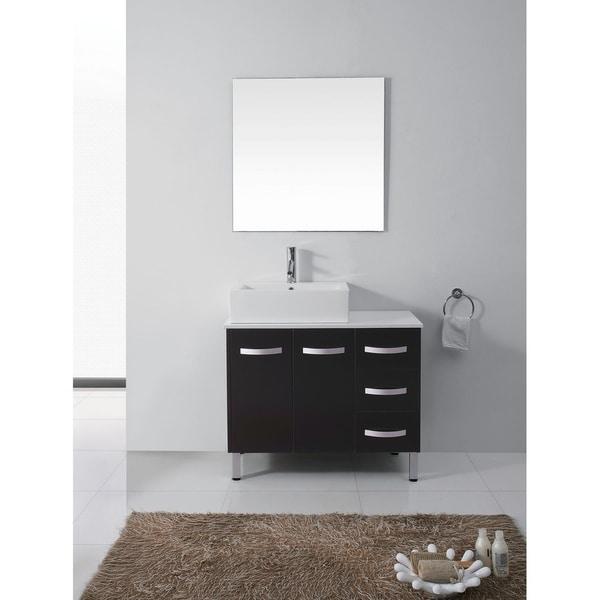 Virtu USA Tilda 36-inch Single Sink Bathroom Vanity Set with Faucet Options and Top Options