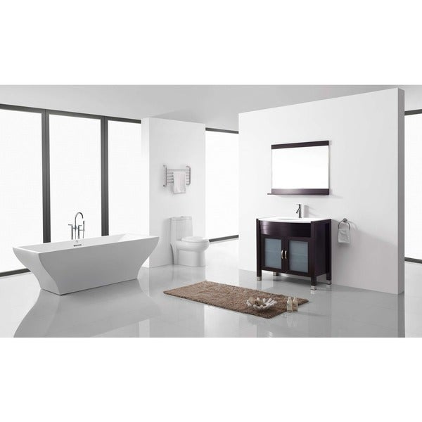 Virtu USA Ava 36-inch Single Sink Bathroom Vanity Set with Faucet and Top Options